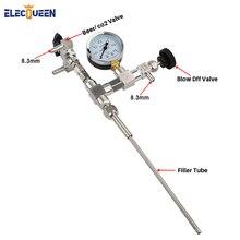 homebrew Stainless Steel Counter Pressure Beer Bottle Filler CO2 with precision regulator gauge