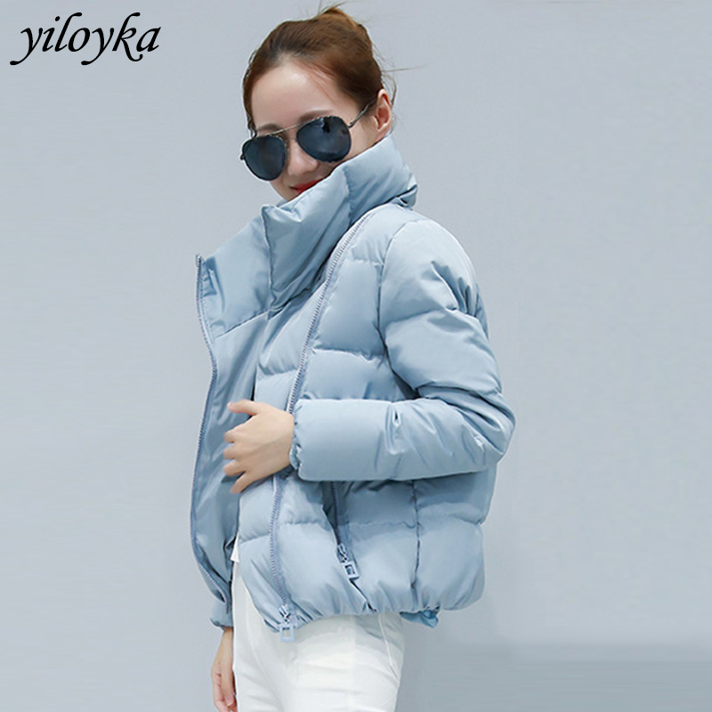 Women Short Jacket Parkas Mujer 2019 Winter Jacket Coat Fashion Autumn Solid Warm Casual Padded Down Parka Female Coat Women image