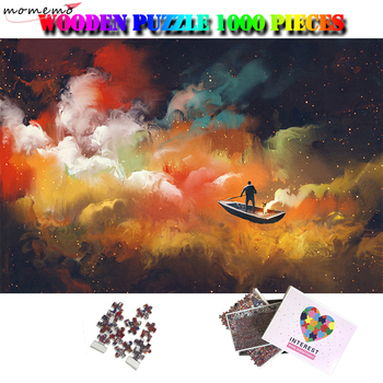 MOMEMO Abstract Art Painting Adults Puzzle Toys 1000 Pieces Jigsaw Puzzles Wooden Fantasy Landscape Puzzle Home Decor Gifts Toys