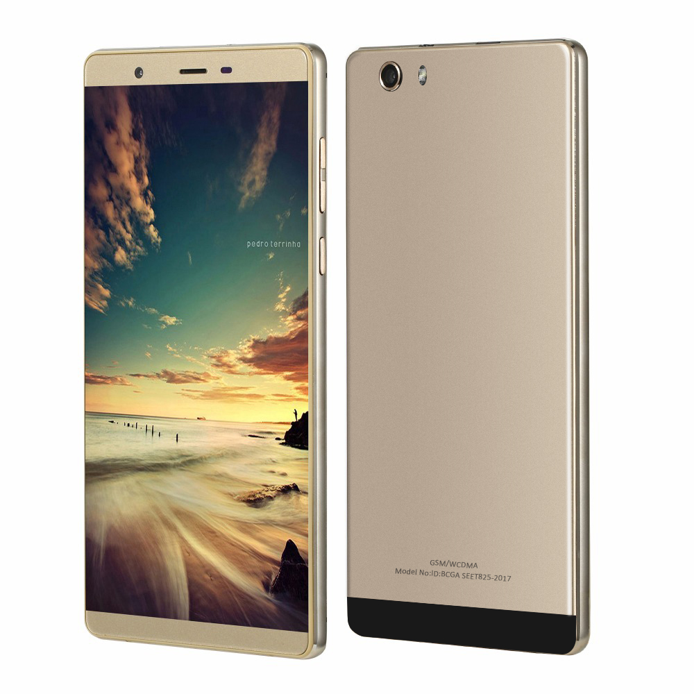 Cheapest Smartphone 6.0 Inch Big Screen MTK6580 Quad Core 3G WCDMA Android 5.1 512MB+8GB 5.0MP 3200mAh GPS DUAL SIM Mobile Phone