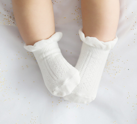 1 Pair Summer Lace Mesh Socks Kids Pure Cotton Baby Girls Sock Thin Loose Todder Sock Children 0-2/2-4years