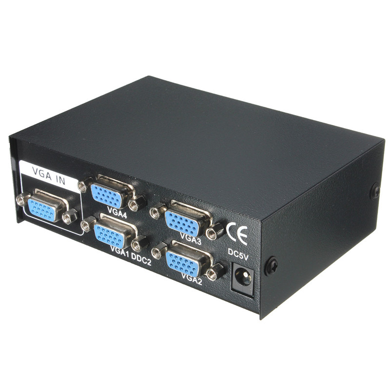 все цены на  Portable High Resolution 150MHz 2 Port Monitor Switch VGA SVGA Video Splitter Box Adapter USB Powered For LCD TV PC High Quality  онлайн