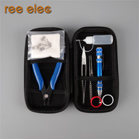 REE ELEC Electronic Cigarette DIY Tools Kit Coil Jig Organic Cotton Ceramic Tweezers Pen Style Screwdriver