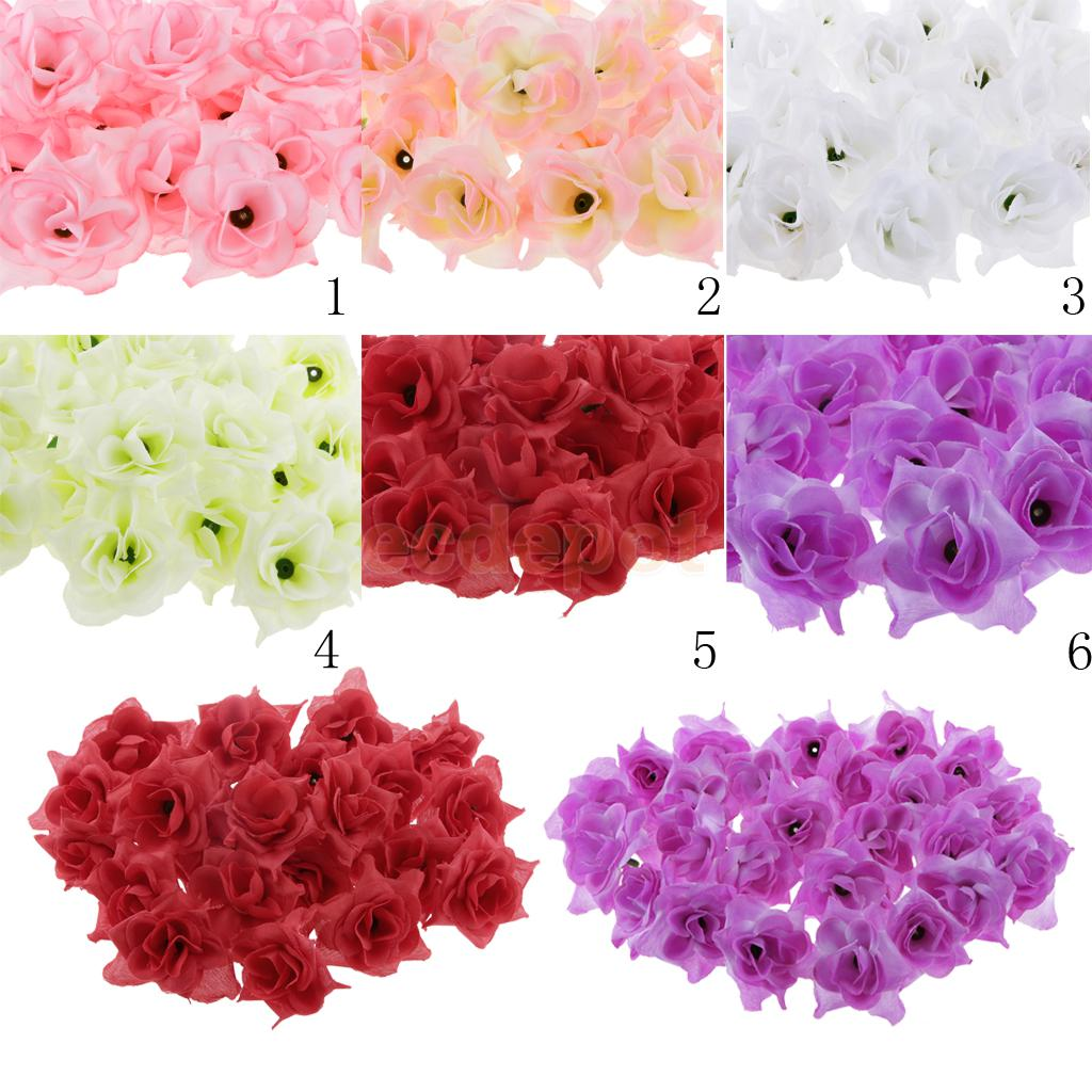 Charming Popular Wedding Decorations Bulk Buy Cheap Wedding Decorations 50x  Artificial Silk Triangle Rose Flower Heads Bulk