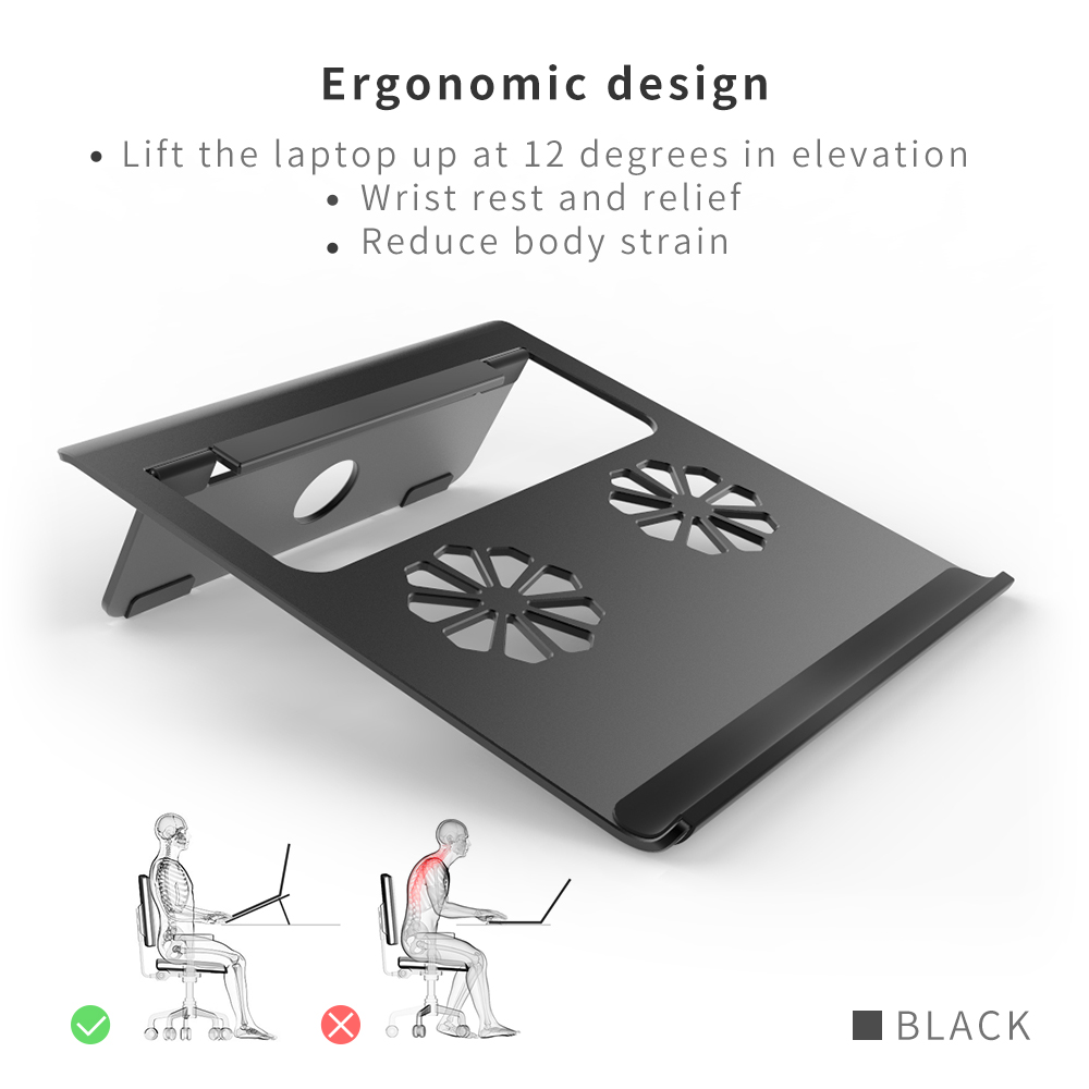 Aluminum Ventilated Laptop Notebook Stand And Universal Laptop Holder Up to 17'' Inches Laptop 2