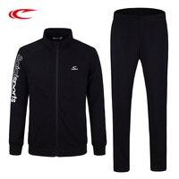 Saiqi Для мужчин кроссовки устанавливает зима теплая спортивная одежда трикотажные спортивные куртки эластичные бег трусцой наборы открытый
