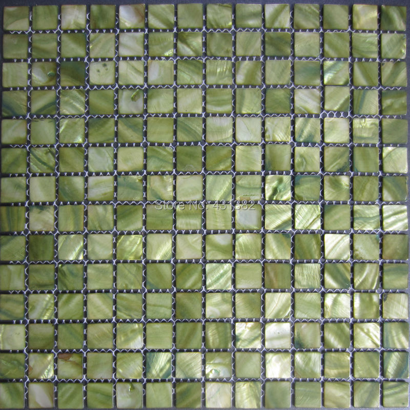 Mosaic Tiles Green Mother Of Pearl Tiles Inner Wall And Kitchen