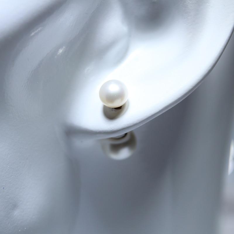 YIKALAISI 925 Sterling Silber Natürliche Süßwasser Oblate Doppel - Edlen Schmuck - Foto 6