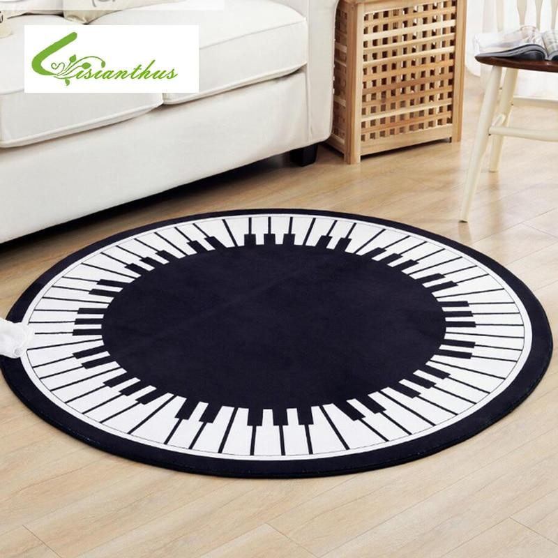 카펫 매트 피아노 키즈 흰색 기하학 무늬 매트 소파 베드룸 거실 미끄럼 바닥 카펫 침실 소프트 매트 홈 용품
