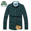 AFS JEEP Cashmere Inner Cotton Completo Manga Grosso Camisas Homens, Marca Original Homens Motocicleta Overshirt calorosamente, algodão ocasional cuecas