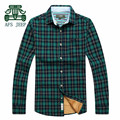 AFS JEEP Cashmere Inner Cotton Full Sleeve Thick Shirts Men,Original Brand warmly Men Motorcycle Overshirt,cotton casual undies