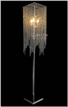 Free Shipping Modern Popular Crystal Floor Lamp, Chrome Stand lighting Meerosee stand FL10008