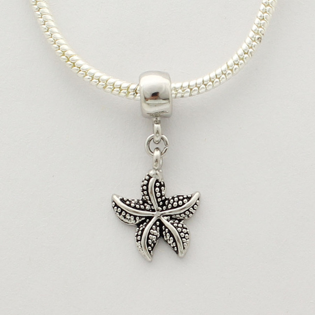05531d7d0 Starfish pendant beads fit Pandora charm bracelet necklace discredit Fox is  the best Mother's Day Valentine's