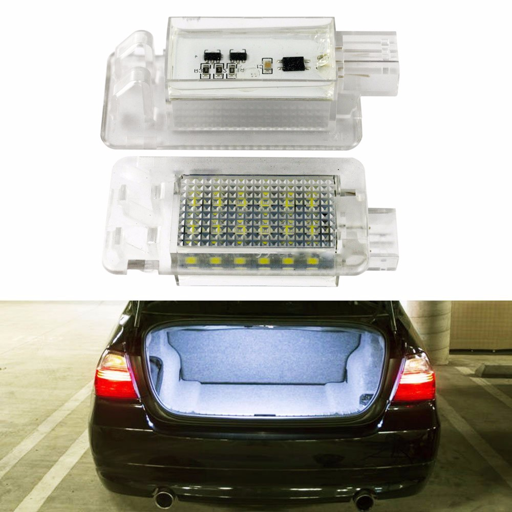 2PCS LED For Volvo XC70 S60 S80 C70 XC90 LED luggage compartment light Trunk light auto lighting system  Automotive parts for volkswagen passat b6 b7 b8 led interior boot trunk luggage compartment light bulb