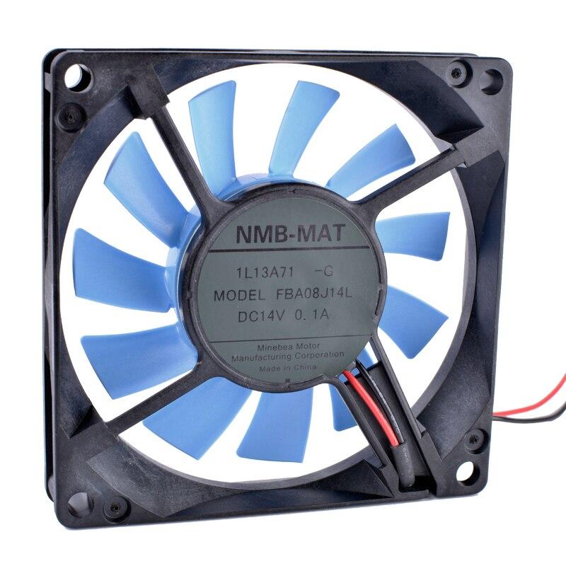 FBA08J14L 14 v 0.10A 8 cm 8015 80mm ventilateur 80x80x15mm Réfrigérateur ventilateur de refroidissement D'ordinateur puissance CPU ventilateur ultra-silencieux