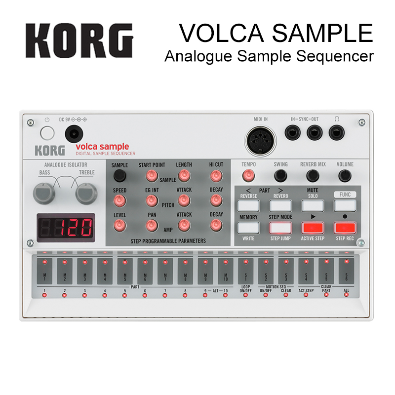Korg Volca Sample Playback Rhythm Machine Tweak, Play, and Sequence Samples Volca Style