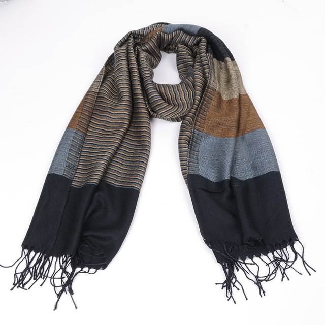 Double Fine Striped Men Scarf | Men's Scarves | Up to 60% Off Now