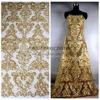 Trồng cây lại Vàng dây sequins buổi tối thương hiệu/wedding dress ren vải 51 '' rượu/black/off trắng/sâu dây màu xanh brides ren 1 yard