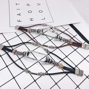 Retro Strap for Mi Band 4 Genuine Leather Wristband for Xiaomi Mi Band 3 4 Pulseira Bracelet for Mi Band 3 Accessorie Metal Case