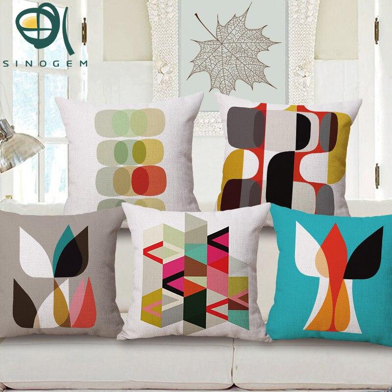 இSinogem decorativo Cojines Tapas simplicidad formas geométricas