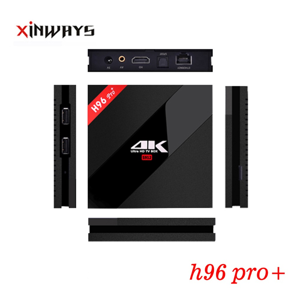 ФОТО 3/32gb promotion Newest h96 pro+ Smart wifi Android Tv Box amlogic S912 newest kodi 16.1 octa core Android 6.0 in Stock Now