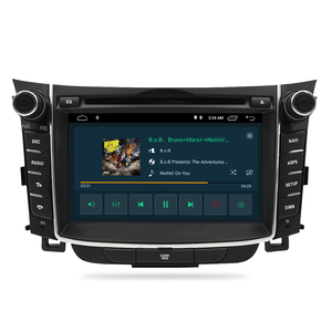 "Image 4 - 7 ""IPS Bildschirm Android 9.0 Auto DVD Radio Player Für Hyundai i30 Elantra GT 2012 2016 2 Din Video GPS Navigation Stereo Multimedia"