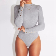 HOT Fashion Sexy Women Clothes Long Sleeve O Neck Solid Stretch Bodysuit Lady Leotard Jumps