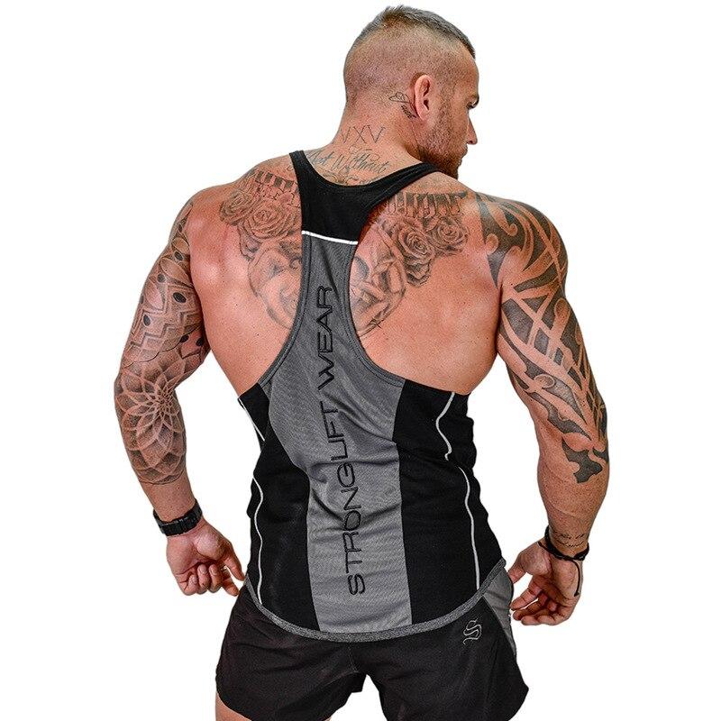 Mens Bodybuilding Tank top Palestre Per Il Fitness camicia senza maniche 2018 Nuovo Maschio Moda abbigliamento in Cotone Singoletto gilet Canottiera