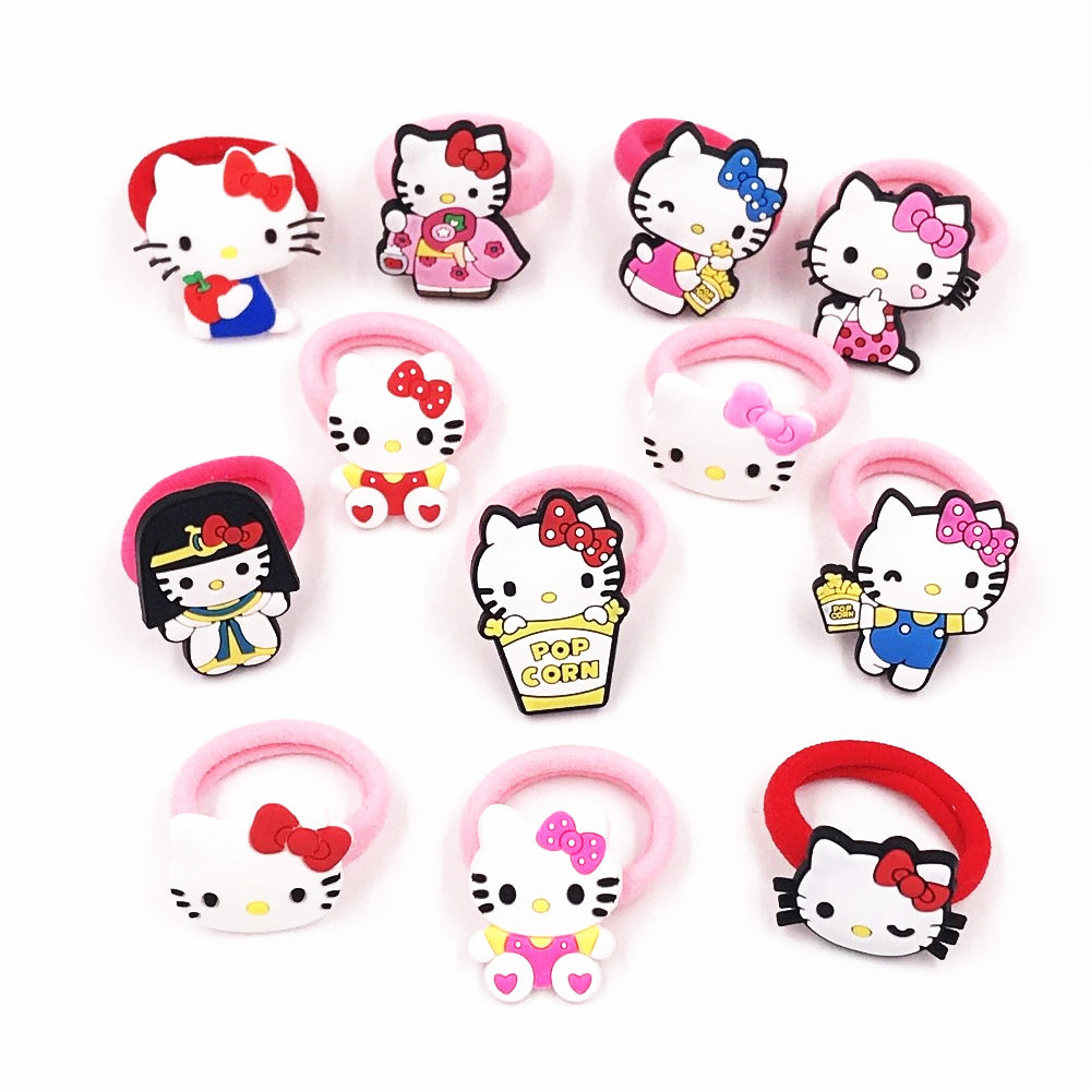 Girls' Clothing 1pcs Hello Kitty Cat Girls Headwear Children Hair Accessories Hair Elastic Hair Bands Accesorios Para El Cabello Nylon Head Band