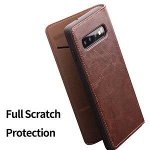 Image 3 - QIALINO Luxus Echtes Leder Telefon Abdeckung für Samsung Galaxy S10 6,1 zoll Stilvolle Ultra Dünne Flip Fall für Galaxy S10 plus