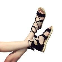 Retro Zapato Pisos Mujeres Sandalias Toe Lace Peep De Borla Verano LjGqUMpSzV