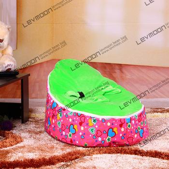 FRETE GRÁTIS saco de feijão bebê com 2 pcs verde up cover bebê beanbag cadeira de bebé assento do bebê do saco de feijão covers só