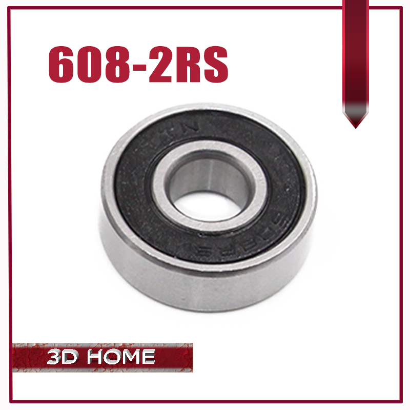 Best Price! 10pcs 608 2RS 608RS Deep groove ball bearing,bearing steel 8X22X7 mm free shipping image