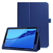 New Magnetic Flip Litchi PU Leather Case for Huawei Mediapad T5 10inch Cover with Smart Stand Holder#P4(China)