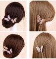Новые поступления от ретро красивые волосы клип шпилька губернатор кристалл бабочка коготь волос мода ювелирных клип