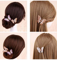 New arrivals from Retro Beautiful Hair Clip Hairpin governor Crystal Butterfly Hair Claw Fashion Jewelry hair clip
