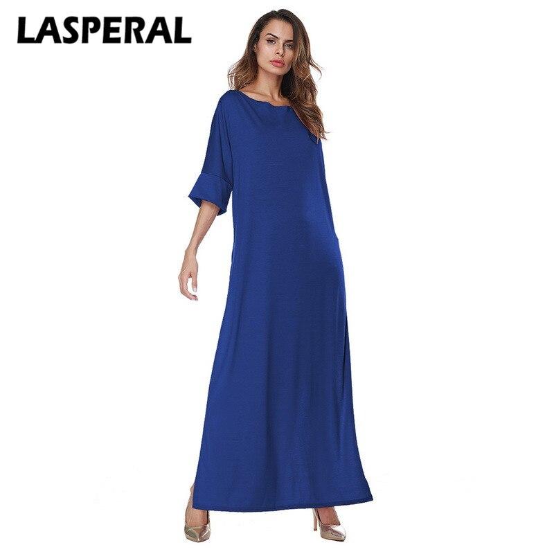 LASPERAL 2017 Spring Solid Dress Women Casual Side Split Vestidos Mujer Dresses Female Long Party Christmas Dress Designer