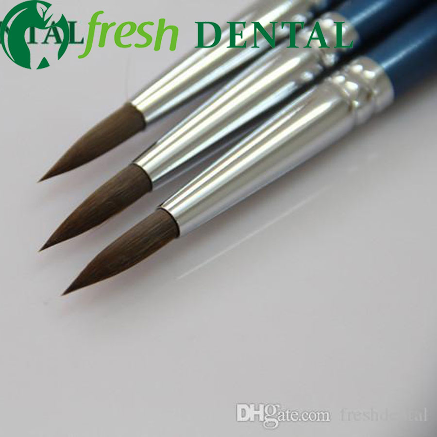 3 UNIDS Dental 8 # Sable porcelana pluma dental esmalte en la pluma de porcelana dental técnico caligrafía pincel de porcelana SL512