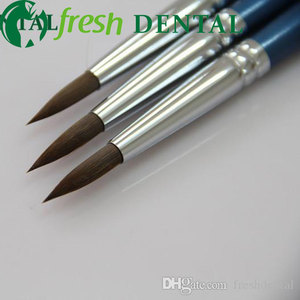 Image 1 - 3PCS Dental 8# Sable porcelain pen dental glaze on porcelain pen dental technician calligraphy brush porcelain pen SL512