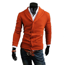 New Arrival Men's Fashion Soft Solid Knitted Cardigans Male Casual Comfortable Easy Match Sweaters 5Colors