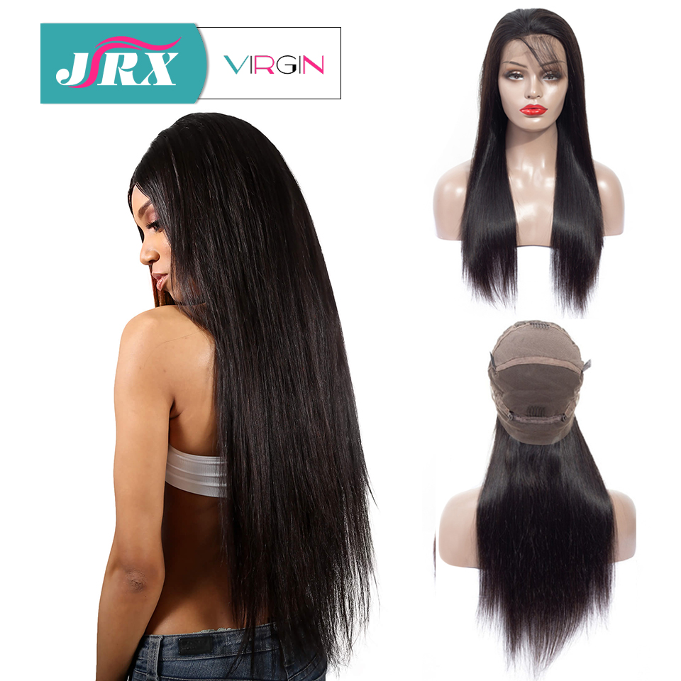 "JRX Hair Brazilian Straight Full Lace Wig with Baby Hair Glueless Remy Virgin Human Hair Wig 18""-32"" Pre Plucked For Black Women(China)"