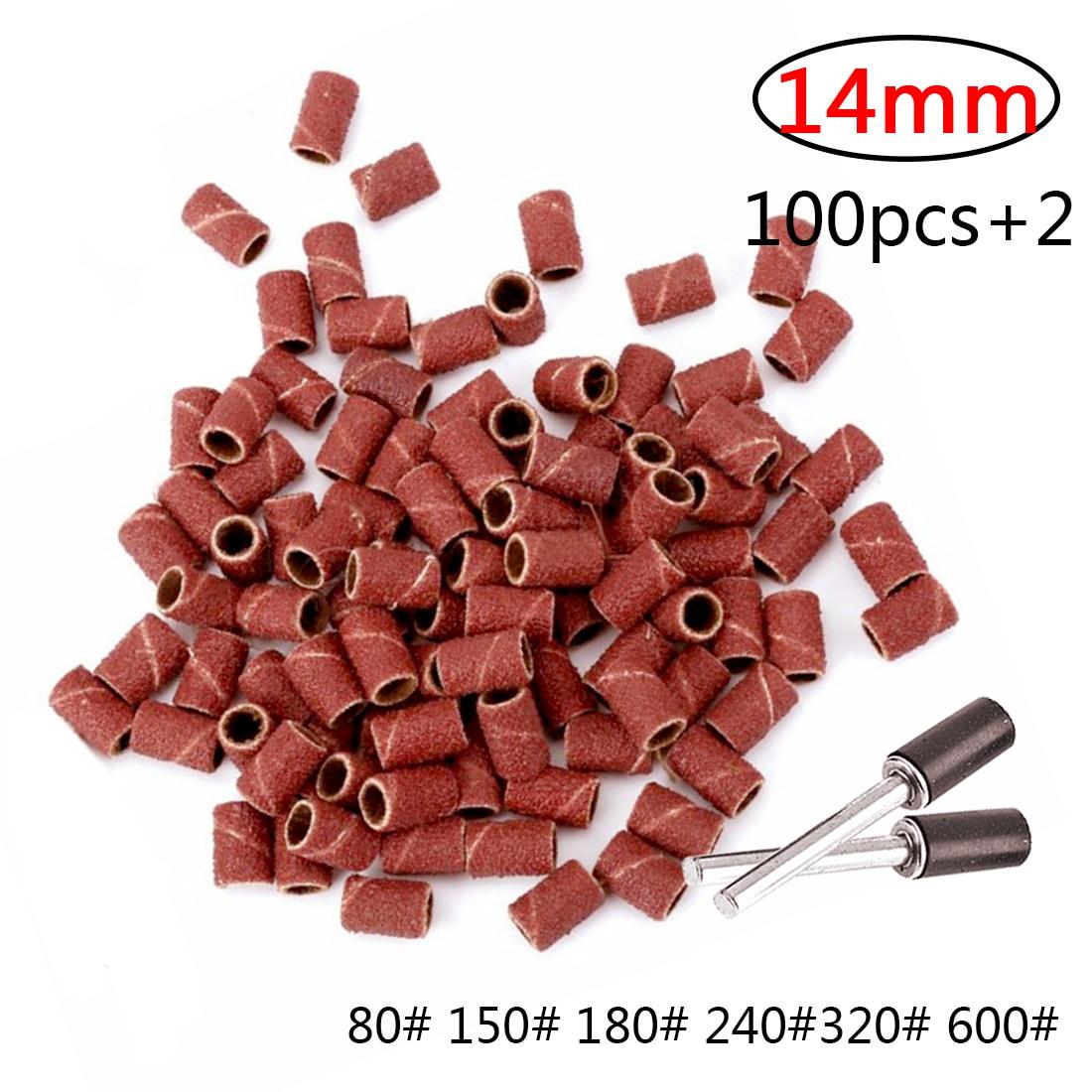 Kit de Tambour Ponceuse 100pcs Bande de Pon/çage et 1 Mandrin /à Tambour 1//8 Outils Rotatifs Grain 600