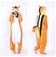 NEW Costumes Brown Squirrel Adult Women Me Cosplay Pajamas Pyjamas Winter Warm Onesies Costumes One Piece