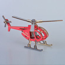DIY 3D Wooden Puzzle Assembly Aircraft Model Building Helicopter Educational Toys Jigsaw Handicraft Toys assembly model trumpet hand model 1 35 ch 47a zhi ngan aircraft toys