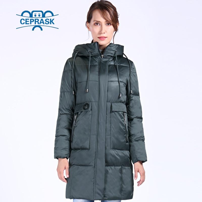 Image 2 - CEPRASK 2019 New High Quality Winter Jacket Women Plus Size 6XL  Long Bio fluff Womens Parka Winter Coat Hooded Warm Down JacketParkas