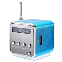 TD-V26 Radio FM Mini Speaker SD USB Music Player Digital Radio Stereo Bass Antenna Receiver For Phone Portable MP3/MP4 цена и фото