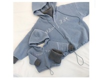 Matching Family Outfits Letter Print Hoodies Plus Velvet Mommy and Me Clothes Casual Hooded Warm Mom and Daughter Sweatshirts
