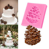 1 pieza silicona Chocolate jabón molde pastel esténcil conos de pino forma molde cocina accesorios pastelería bricolaje herramientas hornear Pan