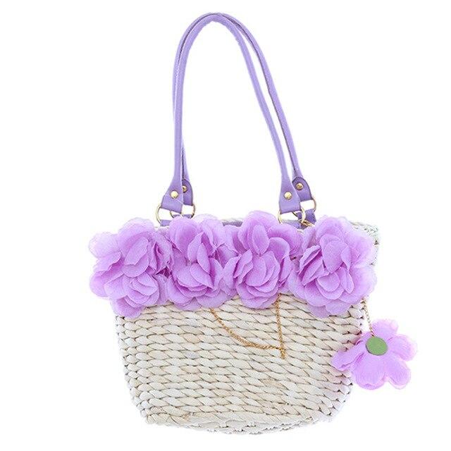 1 шт. девушка Для женщин кукурузного початка 5-цветы пляжные сумки  дизайнеры бренда высокого 6467b6575ab