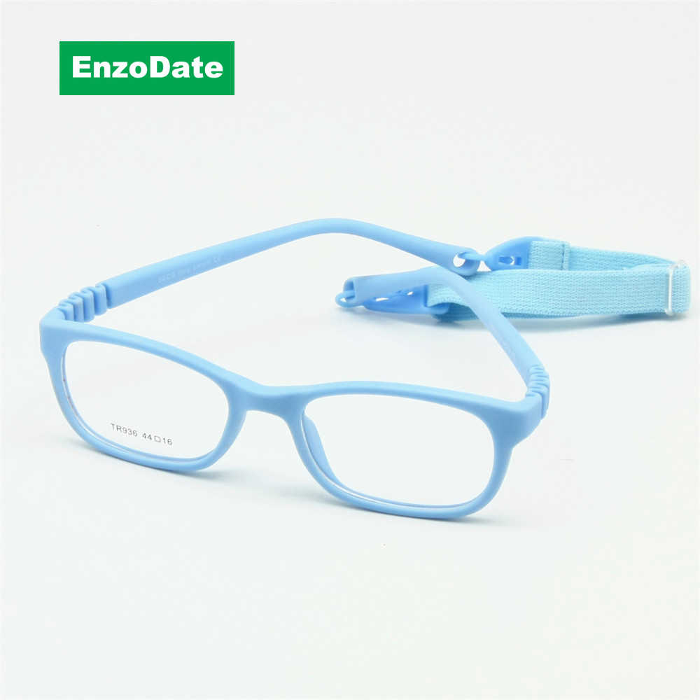 Flexible Kids Eyeglasses Frame Size 44/16 TR90 Children Glasses, No Screw, Unbreakable Safe Light Boys Girls Optical Glasses